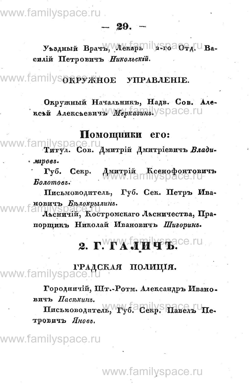Поиск по фамилии - Памятная книжка Костромской губернии на 1853 год, страница 29