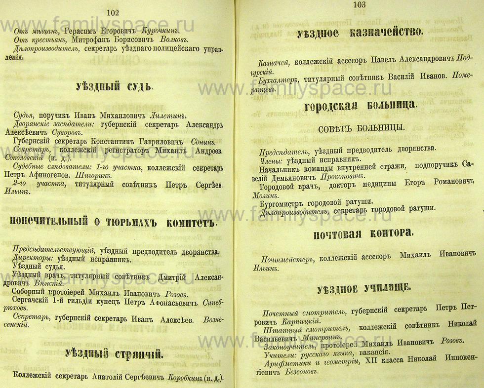 Поиск по фамилии - Памятная книжка Нижегородской губернии на 1865 год, страница 2102