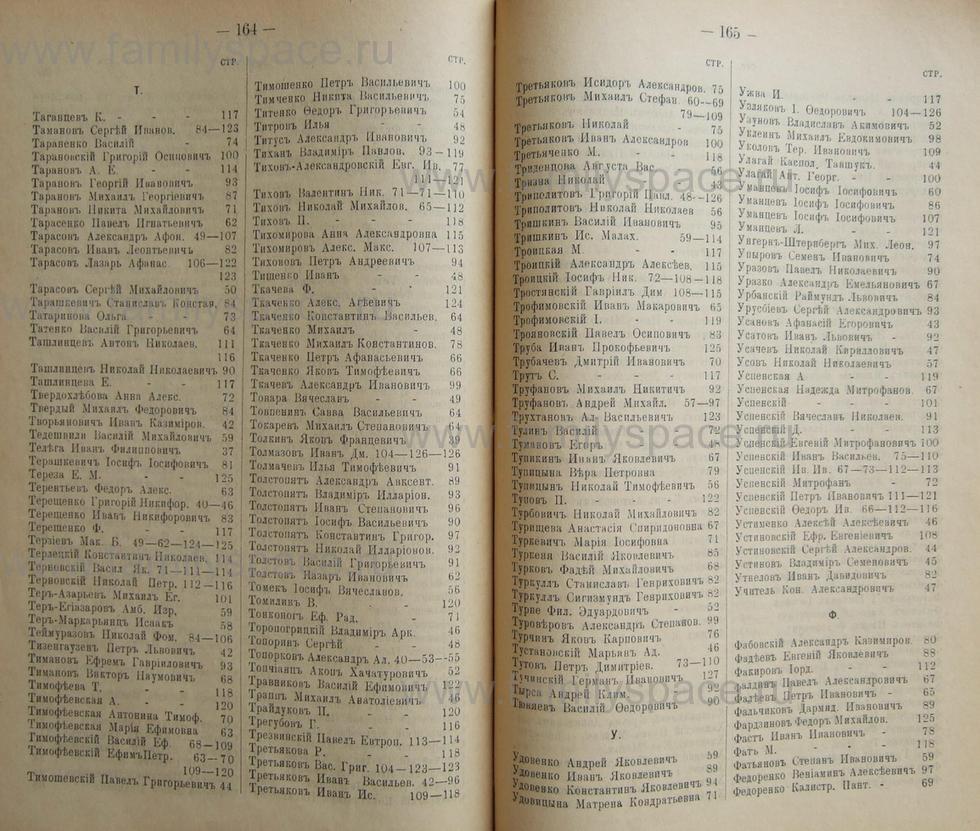 Поиск по фамилии - Кубанский календарь на 1898 год, страница 1164