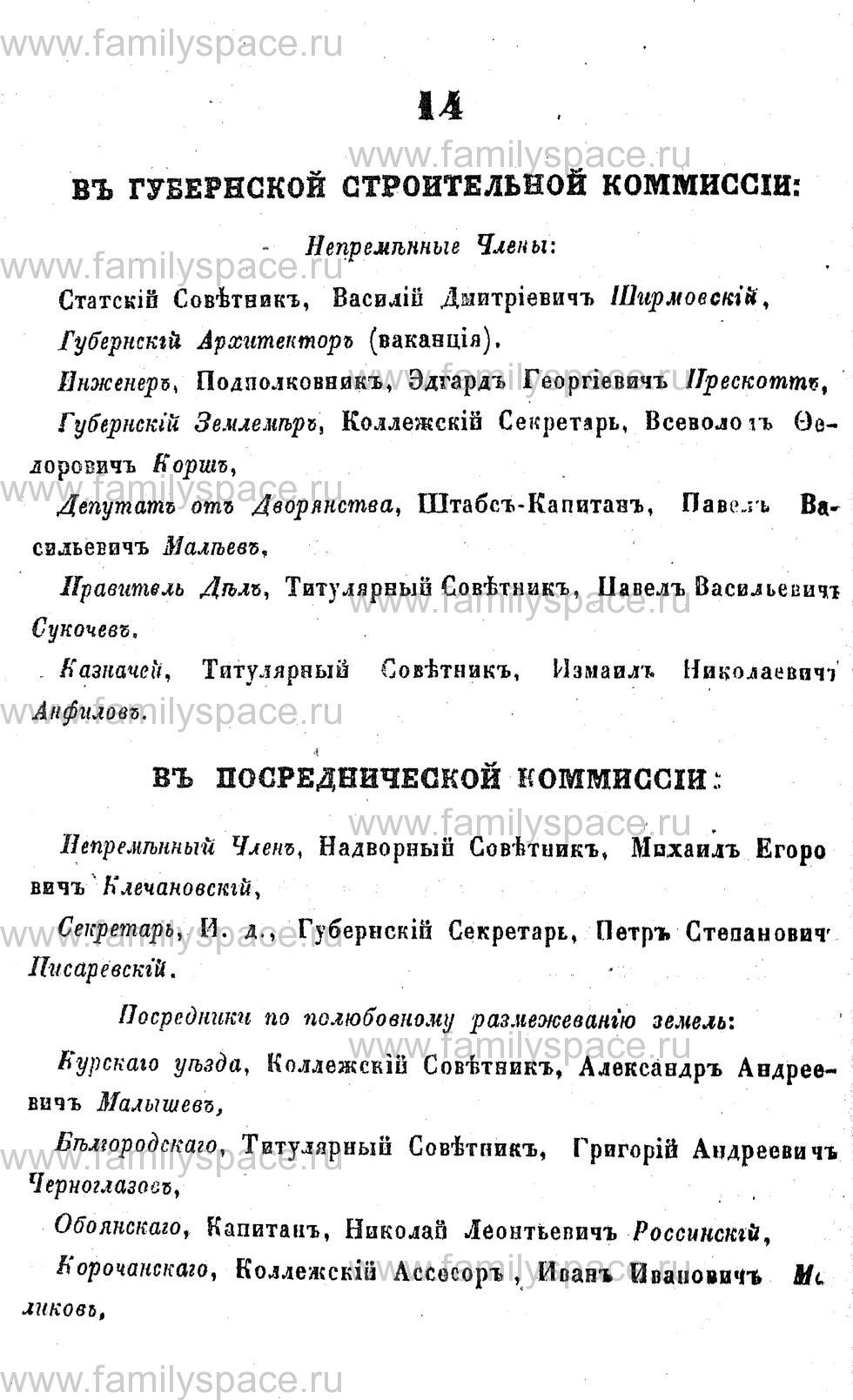 Поиск по фамилии - Адрес-календарь Курской губернии на 1853 год, страница 1014