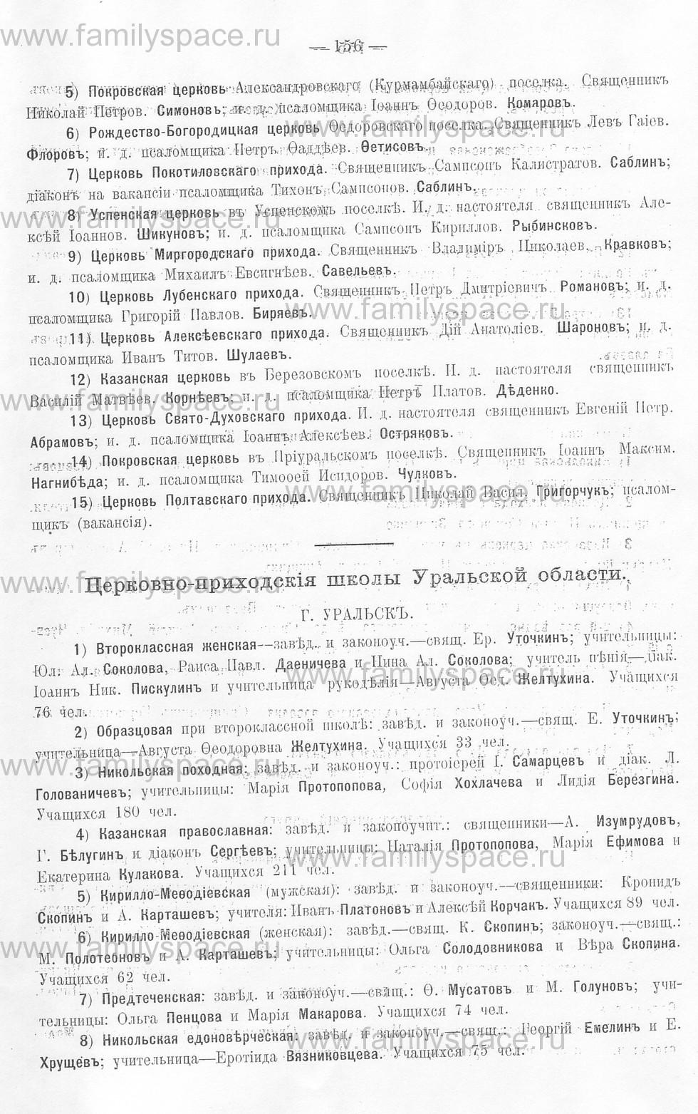 Поиск по фамилии - Памятная книжка Уральской области на 1913 год, страница 156