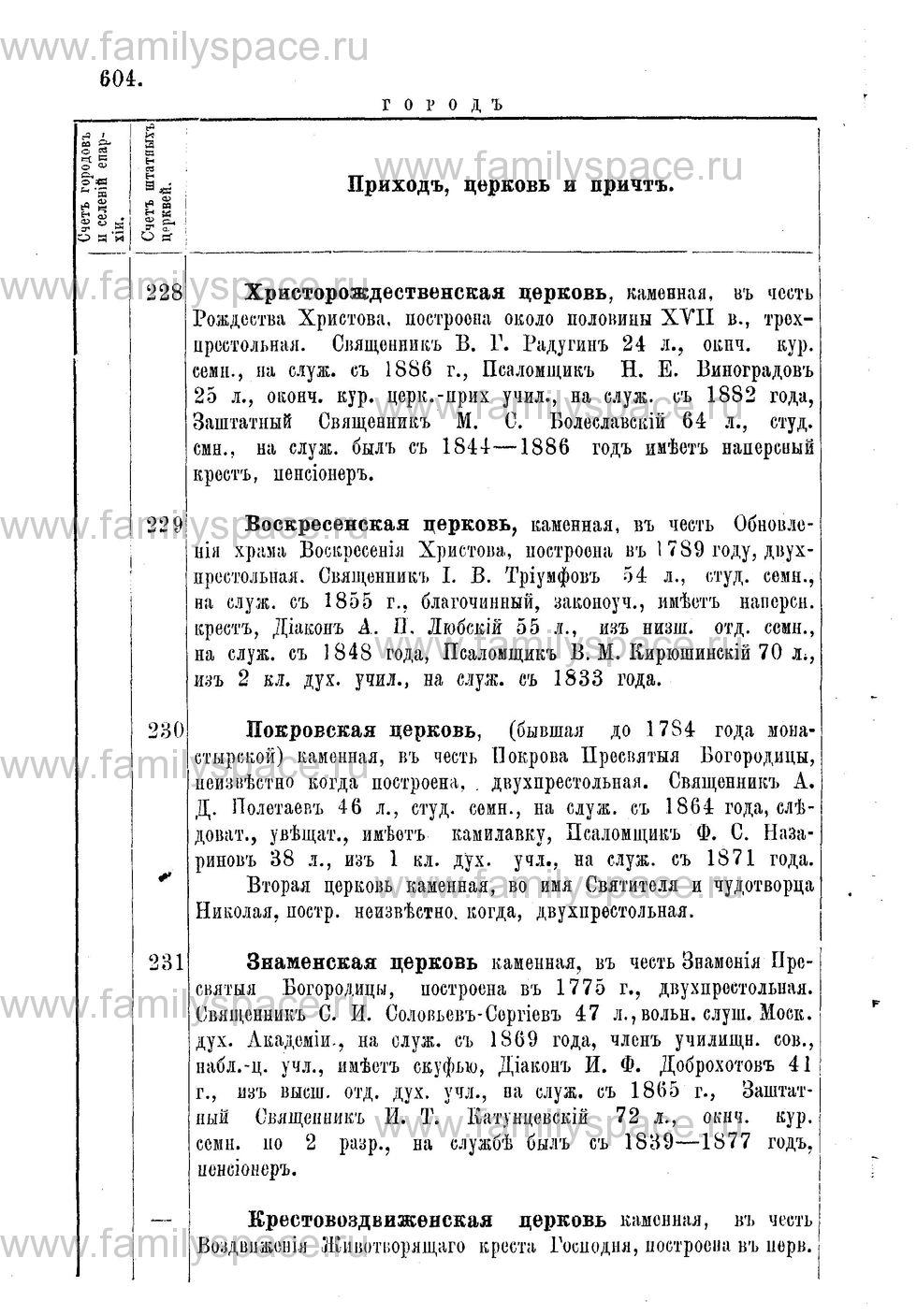 Поиск по фамилии - Адрес-календарь Нижегородской епархии на 1888 год, страница 1604