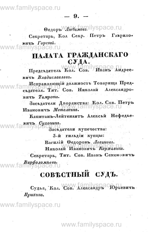 Поиск по фамилии - Памятная книжка Костромской губернии на 1853 год, страница 9