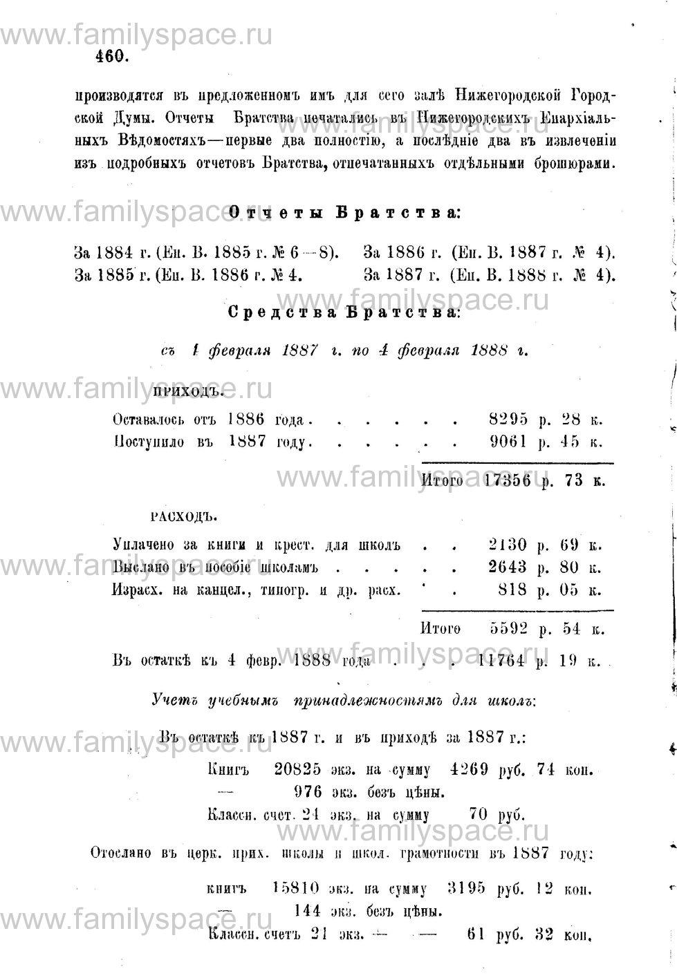 Поиск по фамилии - Адрес-календарь Нижегородской епархии на 1888 год, страница 1460