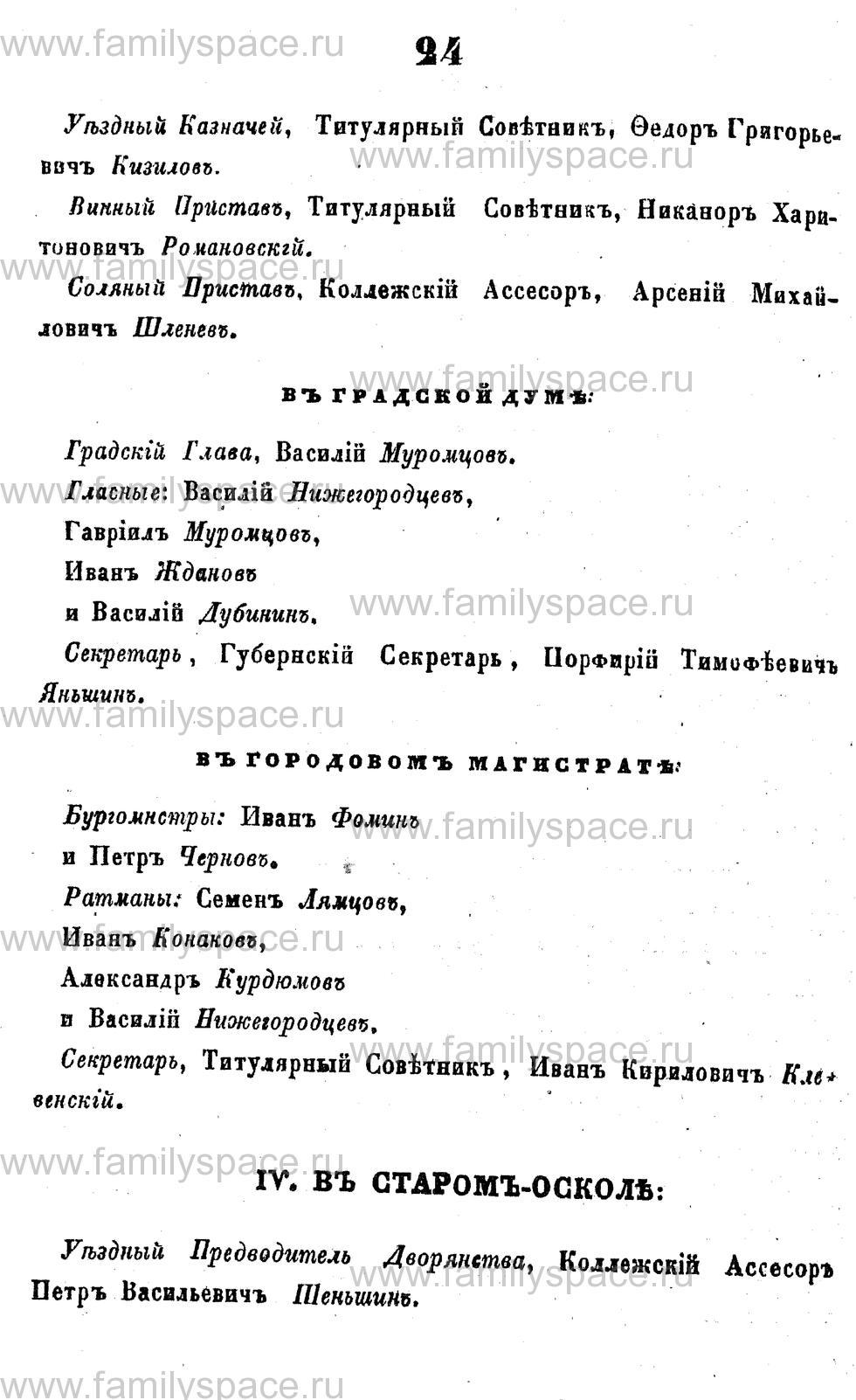 Поиск по фамилии - Адрес-календарь Курской губернии на 1853 год, страница 1024
