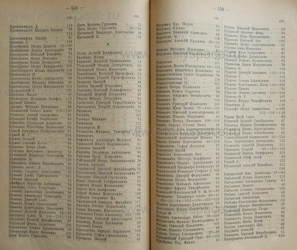 Поиск по фамилии - Кубанский календарь на 1898 год, страница 1158