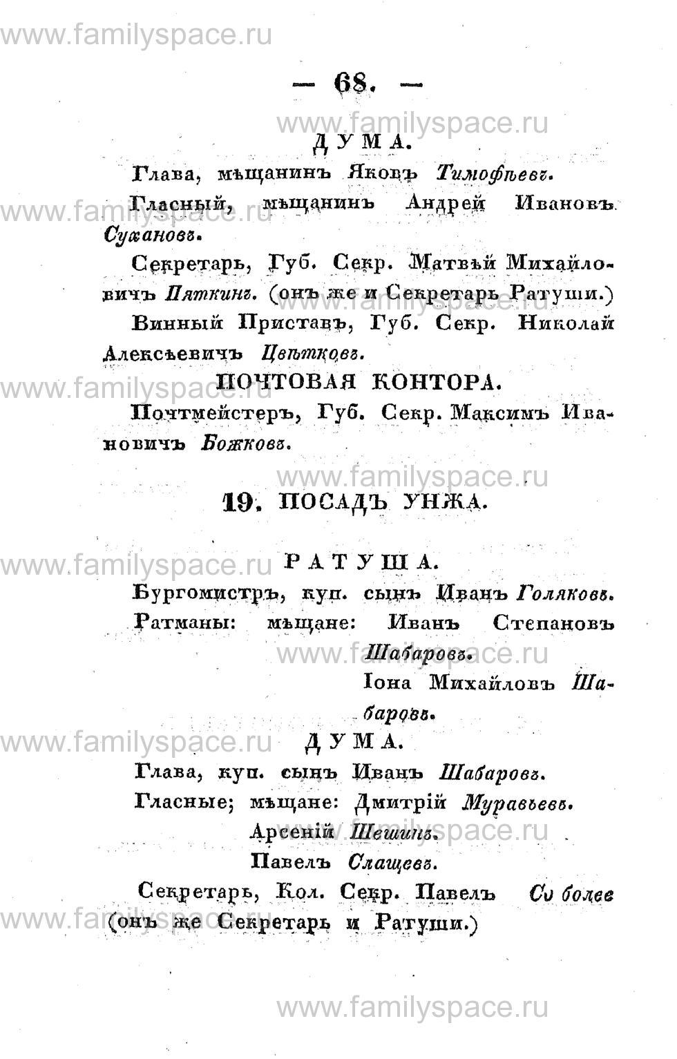 Поиск по фамилии - Памятная книжка Костромской губернии на 1853 год, страница 68